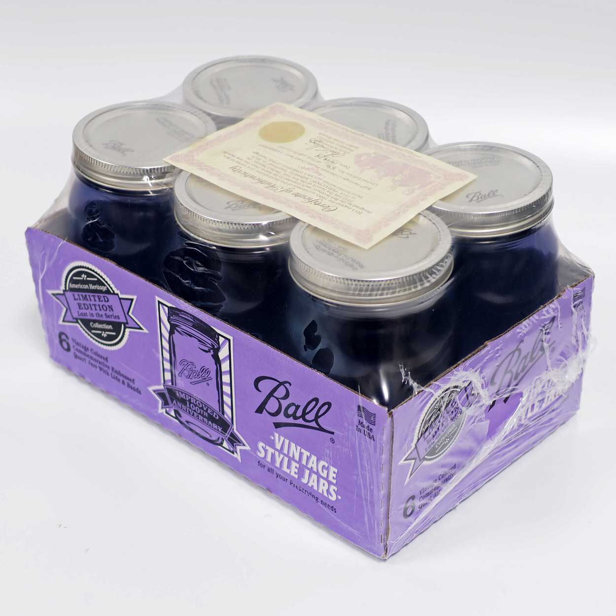 32 oz wide mouth mason jars - Certified Ball Wide Mouth Quart 32 Oz Purple Glass Mason Jars With Lids And Bands 6 Count