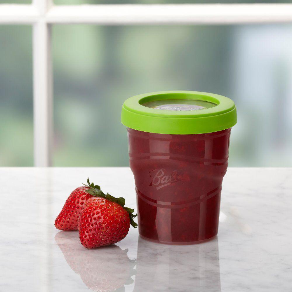 Ball® Plastic Half-Pint 8 oz. Plastic Freezer Jars with