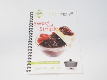 Recipe Book/Quick Start Guide Replacement for Ball® freshTECH Automatic Jam & Jelly Maker