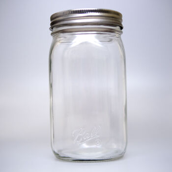 Ball® Smooth-Sided Wide Mouth Quart 32 oz. Glass Mason Jars, 12 count