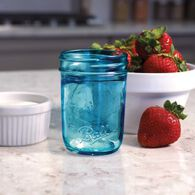 Ball® Collection Elite® Regular Mouth Half-Pint 8 oz. Blue Glass Mason Jars with lids and bands, 4 count