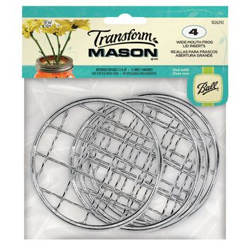 Transform Mason® Wide Mouth Frog Lid Inserts for Mason Jars, 4 count