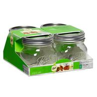 Ball® Collection Elite® Wide Mouth Pint 16 oz. Glass Mason Jars, 4 count