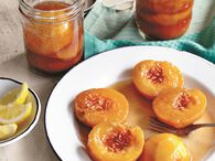 Sweet Tea Poached- Peaches - Ball® Recipes
