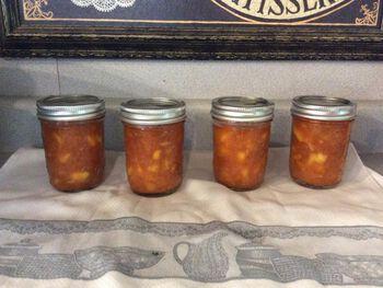 Peach Jam with Sriracha - Water Bath