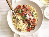 Roasted Eggplant and Pepper Puttanesca Sauce - Ball® Recipes