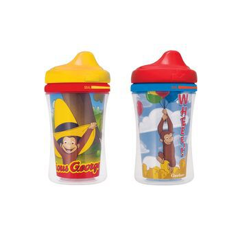 Gerber® Graduates® Curious George Insulated Hard Spout 9-Ounce Cup, 2 Pack, , hi-res