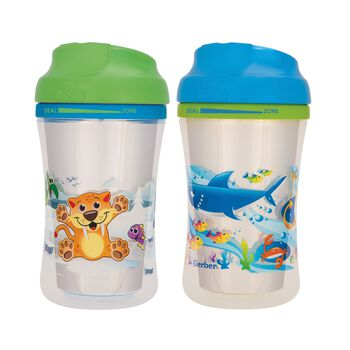 Gerber® Graduates® Advance Developmental Cup-Like Rim 9-Ounce Sippy Cup, Boy, 4 Pack, , hi-res