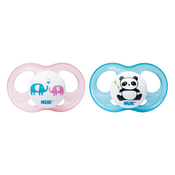 NUK® Breeze Orthodontic Pacifier, 0-6 Months, Girl, 2 pack, , hi-res