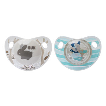 NUK® Cute as a Button Orthodontic Pacifier, 0-6 Months, 2 pack, , hi-res