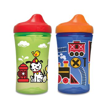 Gerber® Graduates® Advance Developmental Hard Spout 10-Ounce Sippy Cup, Boy, 4 Pack, , hi-res