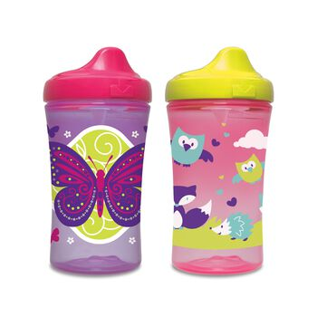 Gerber® Graduates® Advance Developmental Hard Spout 10-Ounce Sippy Cup, Girl, 4 Pack, , hi-res