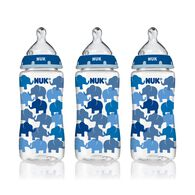 NUK® Bottle with Perfect Fit™ Nipple, 10-Ounce Medium Flow, Elephants, 3 Pack, , hi-res