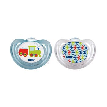 NUK® Trains Airflow Orthodontic Pacifier, 6-18 Months, 2 Pack, , hi-res