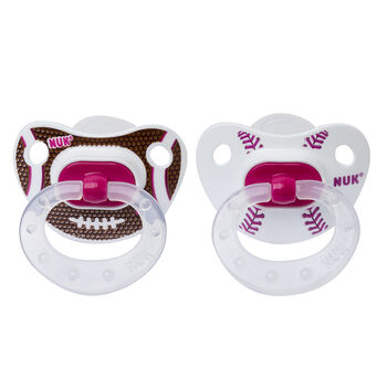 NUK® Sports Orthodontic Pacifier, 0-6 Months Girl, 2 pack, , hi-res
