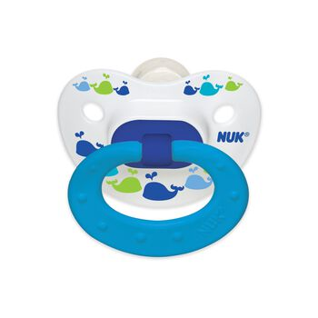 NUK® Fashion Orthodontic Pacifier, Marrakesh & Whales, 18-36 Months, Boy, 2 pack, , hi-res