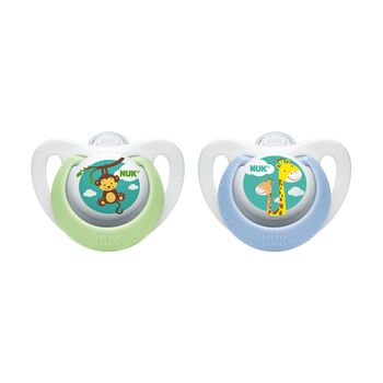 NUK® Newborn Orthodontic Pacifier, Boy 0-2 Months, 2 Pack, , hi-res