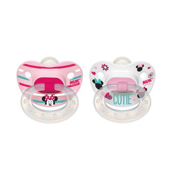 NUK® Disney® Minnie Mouse Orthodontic Pacifier, 6-18 Months, 2 Pack, , hi-res