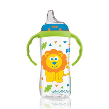 NUK® Large Learner Cup, Jungle Boy, 10 Ounce, 1 Pack, , hi-res