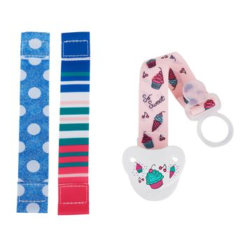 NUK® Fashion Pacifier Clip, Girl, , hi-res