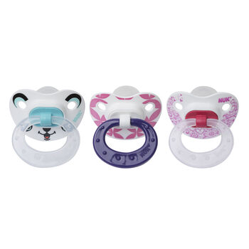 NUK® Orthodontic Pacifiers, 6-18 Months, Girl, 3 pack, , hi-res