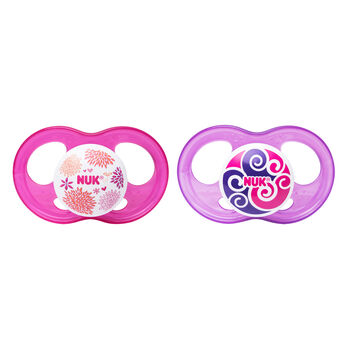 NUK® Breeze Orthodontic Pacifier, 6-18 Months Girl, 2 pack, , hi-res