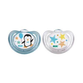 NUK® Boy Penguins Airflow Orthodontic Pacifier, 0-6 Months, 2 Pack, , hi-res