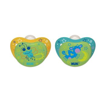 NUK® Orthodontic Pacifier, Night Glow, 0-6 Months, 2 pack, , hi-res