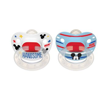 NUK®  Orthodontic Pacifier, Disney® Mickey Mouse, 6-18 Months, 2 Pack, , hi-res