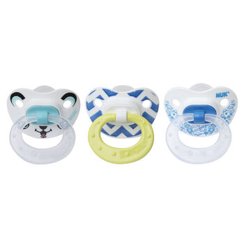 NUK® Orthodontic Pacifiers, 6-18 Months, Boy, 3 pack, , hi-res