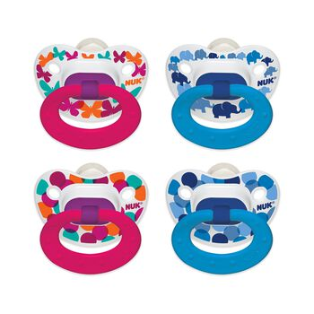 NUK® Confetti Orthodontic Pacifier, Butterflies and Elephants, 18-36 Months, 2 Pack, , hi-res