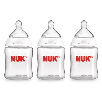 NUK® Bottle with Perfect Fit™ nipples, 5-ounce, 3 pack, , hi-res
