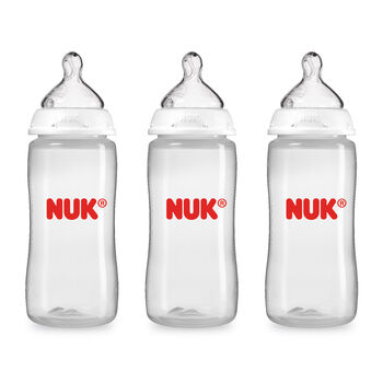 NUK® Bottle with Perfect Fit™ nipples, 10-ounce, 3 pack, , hi-res