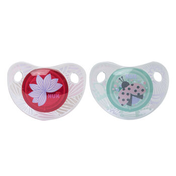 NUK® Cute as a Button Orthodontic Pacifier, 6-18 Months, 2 pack, , hi-res