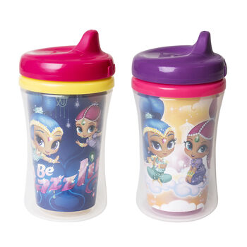 NUK® Shimmer and Shine Insulated Hard Spout Cups, 9-ounce, Girl, 2 pack, , hi-res