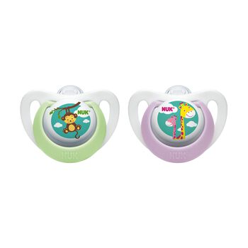 NUK® Newborn Orthodontic Pacifier, Girl  0-2 Months, 2 Pack, , hi-res