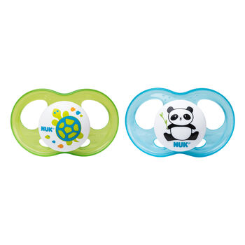 NUK® Breeze Orthodontic Pacifier, Boy, 0-6 Months, 2 pack, , hi-res
