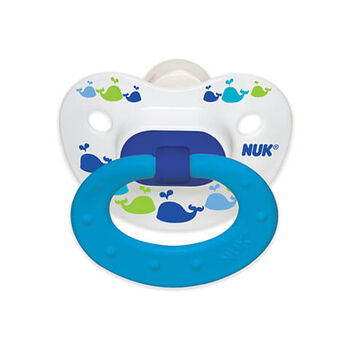 NUK® Fashion Orthodontic Pacifier, Marrakesh & Whales, Size 18-36M, 2 Pack, , hi-res