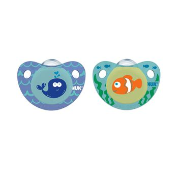 NUK® Cute as a Button Pacifier, Sea Creatures, Boy 6-18 Months, 2 Pack, , hi-res