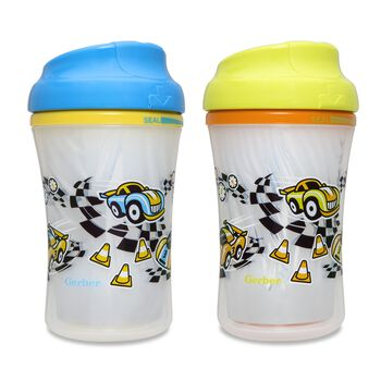 Gerber® Graduates® Advance Seal Zone™ Insulated Cup-Like Rim Sippy Cup, Boy, 2 pack, , hi-res