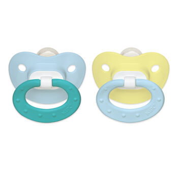 NUK® Juicy Orthodontic Pacifier, Boy 0-6 Months, 2 Pack, , hi-res