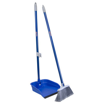 Stand and Store™ Lobby Broom and Dustpan