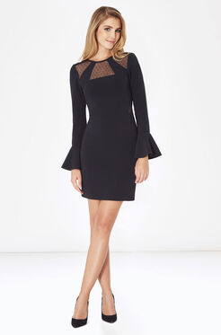 Terriana Combo Dress - Black