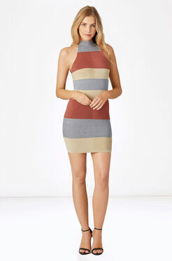 Verlee Knit Dress - Metallic