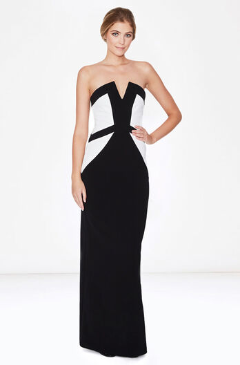 Caroline Dress - Black White