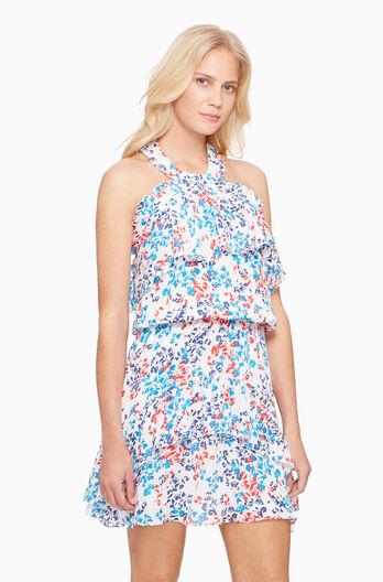 Trisha Dress- White Rainflower