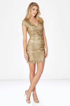 Serena Dress - Gold