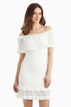 Cora Knit Dress - White