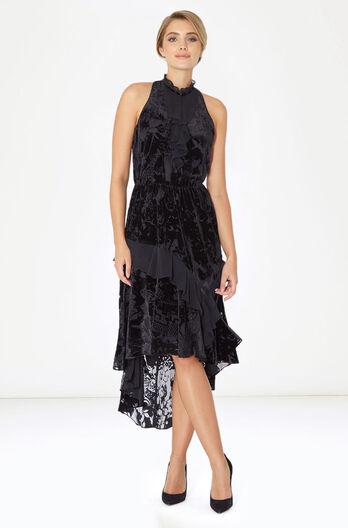 Roberta Combo Dress - Black