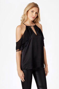 Chelo Combo Blouse - Black